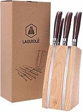 LAGUIOLE - Bloc de 5 ustensiles - Manches en bois