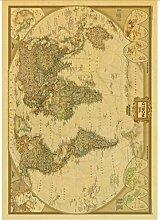 LAIDAO Affiche sur Toile La Vieille Carte du Monde