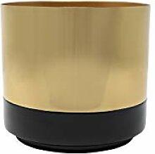 LaLe Living Pot de fleurs Koku en fer noir/doré