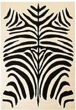 LAM Tapis moderne Design de zèbre 140 x 200 cm