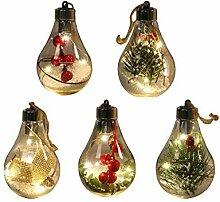 LAMEIDA Lot de 5 Ampoule LED en Plastique
