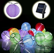 Lamker 30 LED Guirlande Lumineuse Solaire Lampion