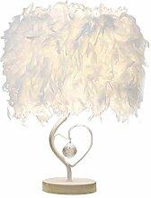 Lamp de Table en Cristal de Plumes, Plume Lampe de