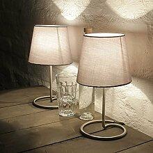 Lampada da comodino decorativa in pratico set da 2