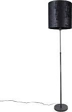 Lampadaire abat-jour noir noir 40 cm orientable -
