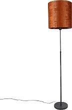 Lampadaire abat-jour noir rouge 40 cm orientable -