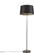 Lampadaire acier avec abat-jour noir 45 cm