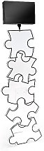 Lampadaire acrylique Puzzle abat-jour noir GM