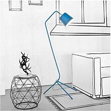 Lampadaire bleu canard au design élégant