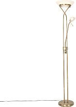 Lampadaire bronze avec LED et variateur avec lampe