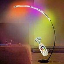 Lampadaire d'angle nordique rvb à distance C,