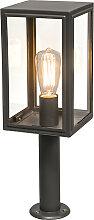 Lampadaire d'extérieur gris 50 cm IP44 -