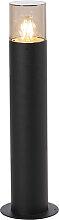 Lampadaire d'extérieur moderne 50 cm noir -