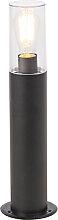 Lampadaire d'extérieur moderne noir 50 cm -