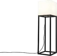 Lampadaire d'extérieur noir IP44 avec