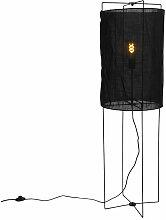Lampadaire Design en acier avec abat-jour en lin