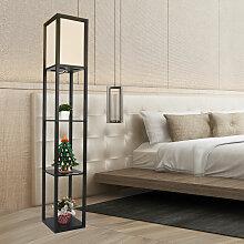Lampadaire en bois Design Lampe sur Pied avec 3