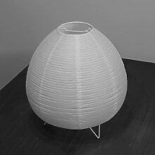 Lampadaire en Papier De Riz avec Base De Lampe