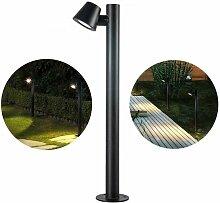 Lampadaire extérieur 100cm GU10 IP44 | Noir