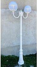 Lampadaire exterieur classique blanc H 2100mm 2