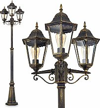 Lampadaire extérieur Hongkong à 3 lampes,