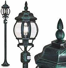 Lampadaire extérieur Lentua avec détecteur de