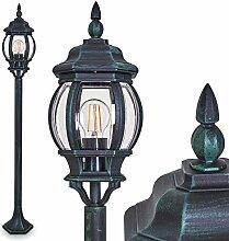 Lampadaire extérieur Lentua, luminaire vintage en
