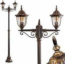 Lampadaire extérieur Ribadeo composé de deux