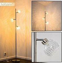 Lampadaire Iskuras en métal/nickel mat -
