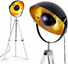 Lampadaire Jupiter, luminaire vintage en bois