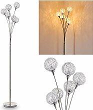 Lampadaire Kitee en métal de couleur chrome -