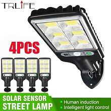 Lampadaire LED 128 COB à énergie solaire,