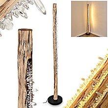 Lampadaire LED Bansberia - En métal et bois -