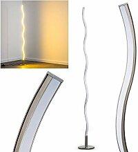 Lampadaire LED Dillon en métal, luminaire ondulé