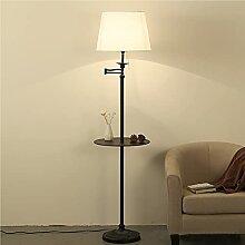 Lampadaire LED Noir Moderne Lampes De Lecture