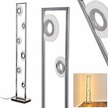 Lampadaire LED Obip, lampe sur pied en métal