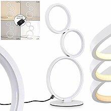 Lampadaire LED Rodekro en métal blanc, lampe