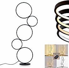 Lampadaire LED Rodekro en métal noir, lampe