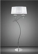 Lampadaire Louise 2 Ampoules E27 avec Abat jour