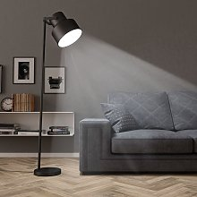 Lampadaire Métal Noir E27