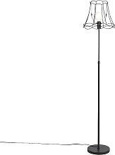 Lampadaire noir avec Granny Frame 35 cm réglable