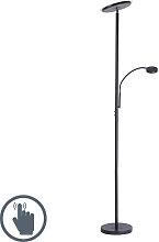 182 cm variateur Salon Lampes Diele DEL Lampadaire avec lampadaire liseuse rostfarbig H