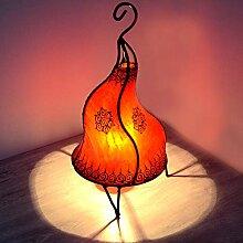 Lampadaire oriental rouge 40 cm - Lampadaire
