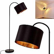Lampadaire Pattburg - En métal noir - 1 lampe sur