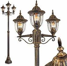 Lampadaire Ribadeo à 3 lampes en fonte