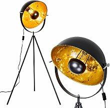 Lampadaire Saturn en métal avec un abat-jour