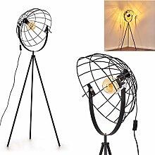 Lampadaire Saturn, luminaire vintage en métal