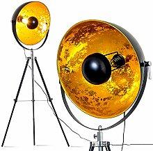 Lampadaire Saturn XXL vintage à abat-jour