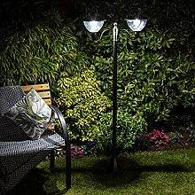 Lampadaire Solaire LED Extérieur en Aluminium -