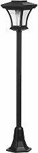 Lampadaire solaire vintage acier noir H120cm
